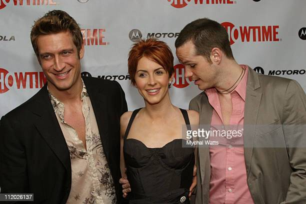 Bobby Gant Michelle Clunie and Peter Paige at the Motorola Sponsored New York Premiere of Showtime's Queer as Folk Event