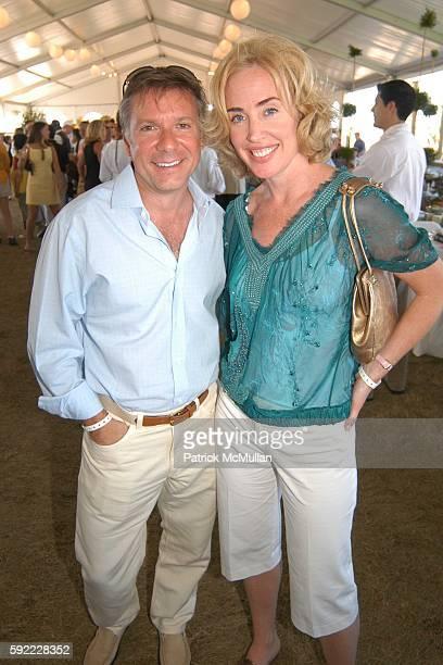 Bobby Giannos and Amy Hoadley attend David Yurman Grand Prix Summer Luncheon at Grand Prix Tent on September 4 2005 in Bridgehampton New York
