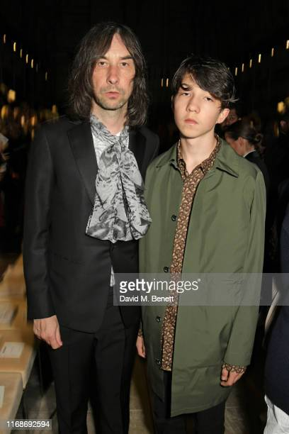 Bobby Gillespie and Lux Gillespie attend the Burberry September 2019 show during London Fashion Week on September 16 2019 in London England
