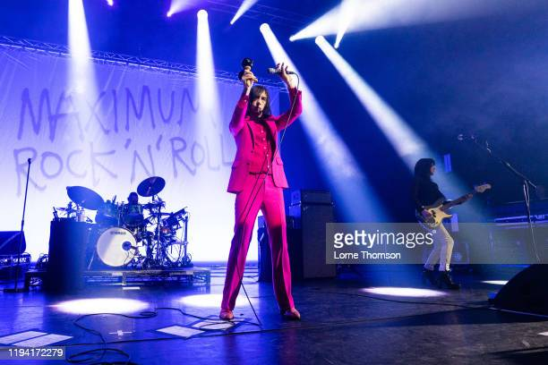 Bobby Gillespie and Simone Butler of Primal Scream perform at Perth Concert Hall on December 15, 2019 in Perth, Scotland.