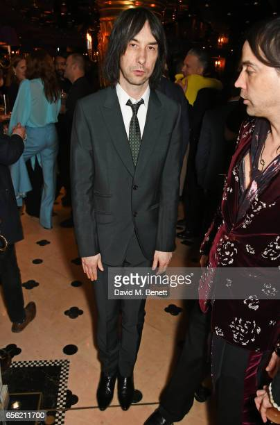 Bobby Gillespie attends the Another Man Spring/Summer Issue launch dinner in association with Kronaby at Park Chinois on March 21 2017 in London...