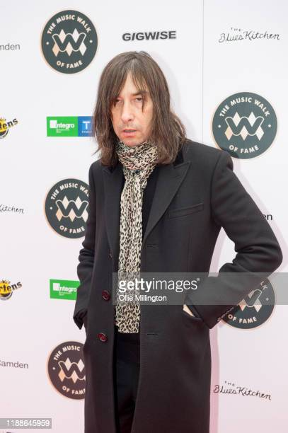Bobby Gillespie attends the Music Walk Of Fame for The Who's Founding Stone Unveiling on Camden High Street on November 19 2019 in London England