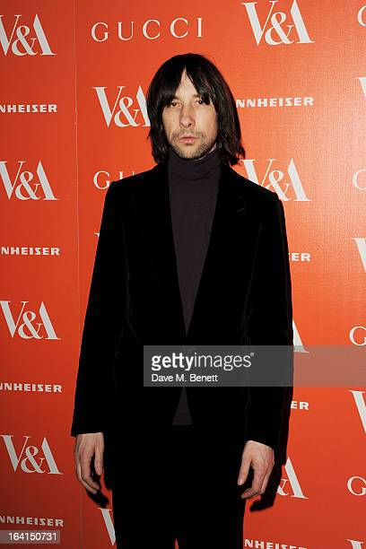 Bobby Gillespie attends the private view for the 'David Bowie Is' exhibition in partnership with Gucci and Sennheiser at the Victoria and Albert...