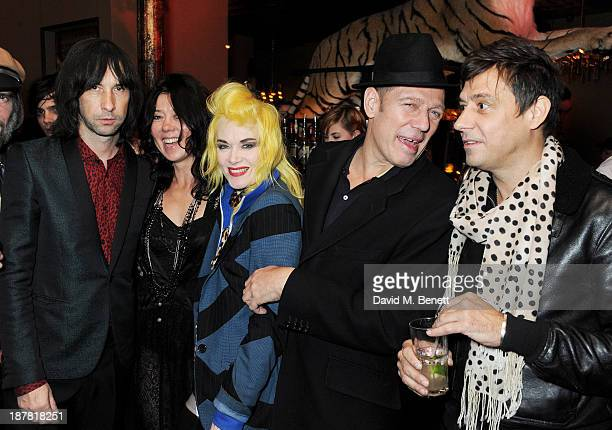Bobby Gillespie Katy England Pam Hogg Paul Simonon and Jamie Hince attend #VauxhallPresents Made in England by Katy England screening hosted by...