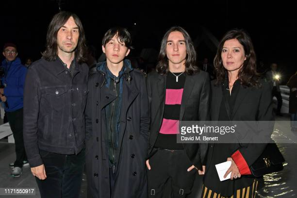 Bobby Gillespie Lux Gillespie Wolf Gillespie and Katy England attend the Celine Womenswear Spring/Summer 2020 show as part of Paris Fashion Week on...