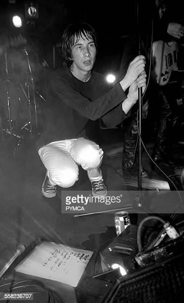 Bobby Gillespie of Primal Scream on stage at the Hacienda Manchester 1991