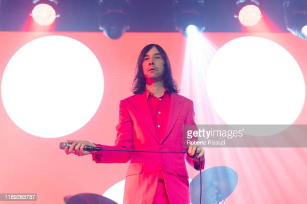 Bobby Gillespie of Primal Scream performs on stage at Barrowland Ballroom on December 17, 2019 in Glasgow, Scotland.