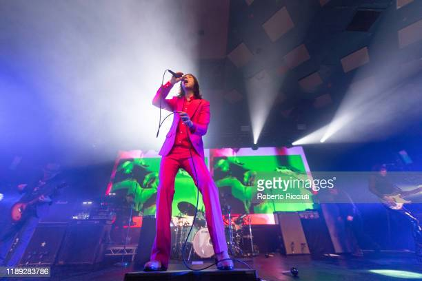 Bobby Gillespie of Primal Scream performs on stage at Barrowland Ballroom on December 17 2019 in Glasgow Scotland