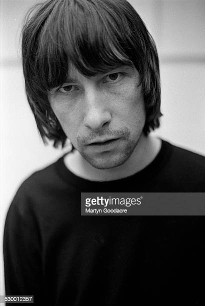 Bobby Gillespie of Primal Scream portrait at Adrian Sherwood's cottage High Wycombe United Kingdom 1997