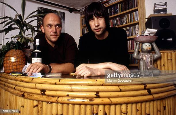 Bobby Gillespie of Primal Scream with record producer Adrian Sherwood Aylesbury United Kingdom 1998