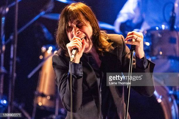 Bobby Gillespie performs at The Royal Festival Hall on February 12, 2020 in London, England.