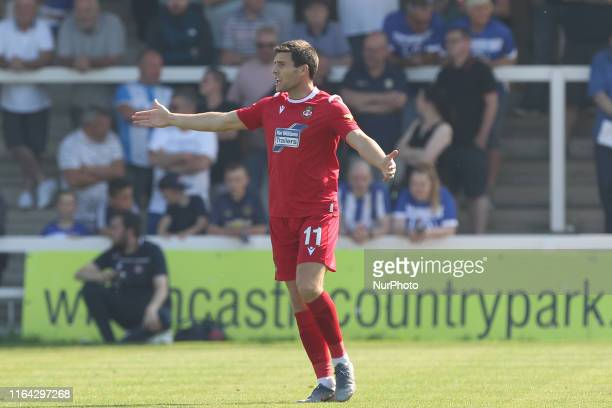 Bobby Grant of Wrexham during the Vanarama National League match between Hartlepool United and Wrexham at Victoria Park Hartlepool on Monday 26th...