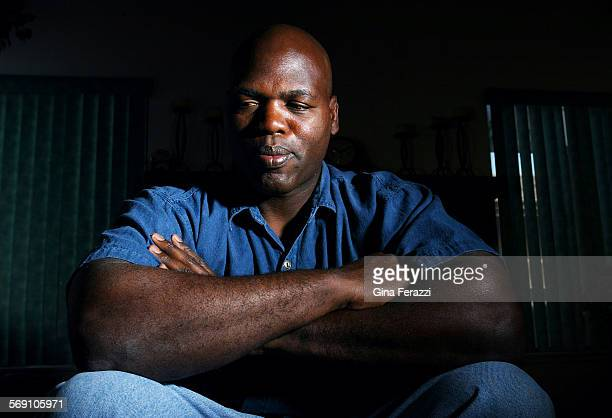 Bobby Green one of four people who rescued trucker Reginald Denny at the onset of the Los Angeles Riots, at his home in Rialto on March 10, 2002. His...