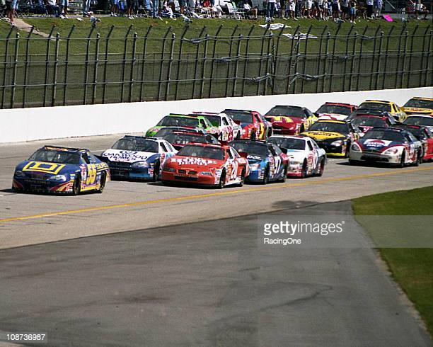 Bobby Hamilton leads the field on his way to his only NASCAR Cup victory at Talladega Superspeedway The Talladega 500 ran from start to finish...