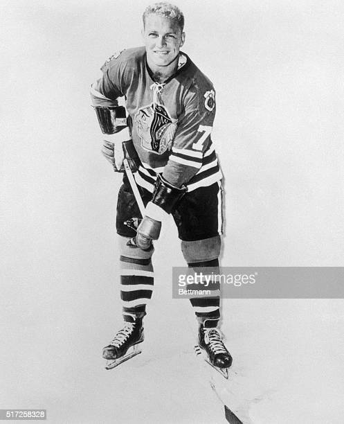 Bobby Hull of the Chicago Blackhawks is shown in this uniformed photograph