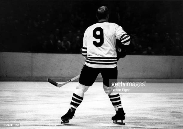 Bobby Hull of the Chicago Blackhawks skates on the ice during an NHL game circa 1970.
