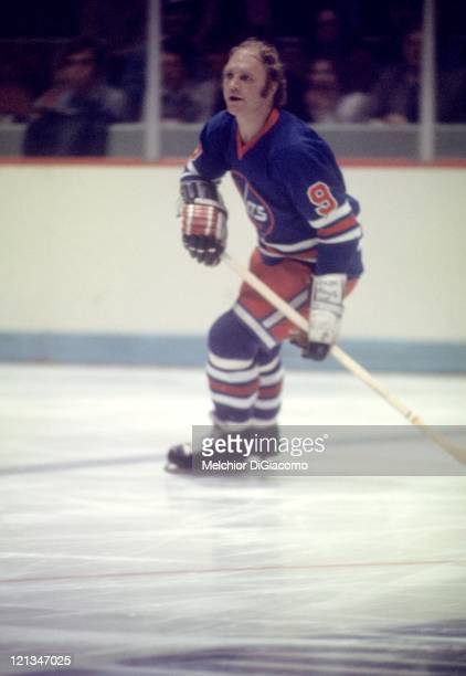 Bobby Hull of the Winnipeg Jets skates on the ice during an WHA game against the Houston Aeros circa 1976 at the Summit in Houston, Texas.