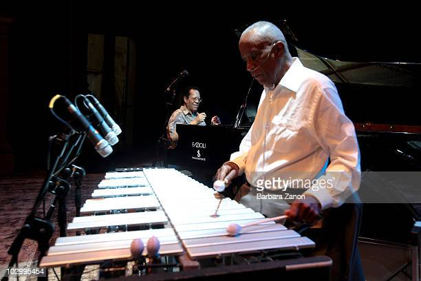 Bobby Hutcherson and Cedar Walton perform on stage during Umbria Jazz Festival on July 13, 2010 in Perugia, Italy.