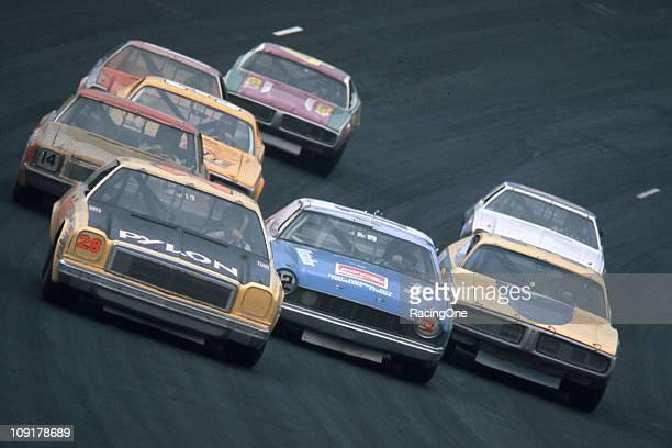 Bobby Isaac driving Hoss EllingtonÕs Pylon Wiper Blades Chevrolet leads Bobby AllisonÕs Roger Penske AMC Matador during the Talladega 500 NASCAR Cup...