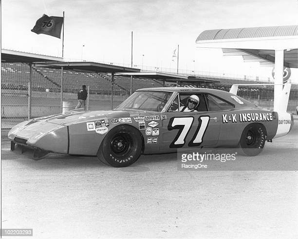 Bobby Isaac with his Dodge Charger Daytona at Daytona International Speedway Isaac finished fifth in the Daytona 500 and ninth in the Firecracker 400...