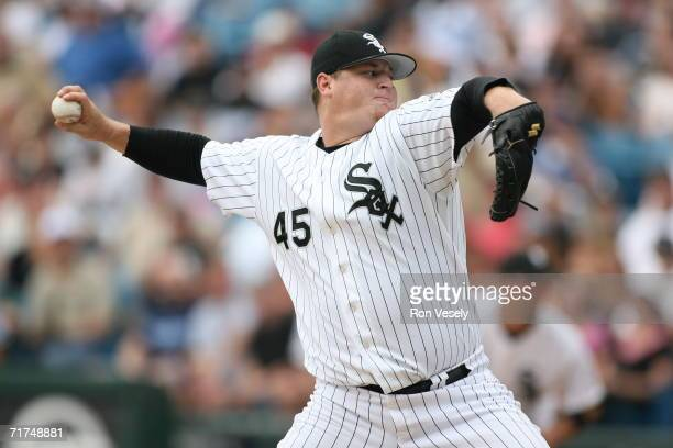 Bobby Jenks of the Chicago White Sox delivers a pitch during the game against the Kansas City Royals at US Cellular Field in Chicago Illinois on...