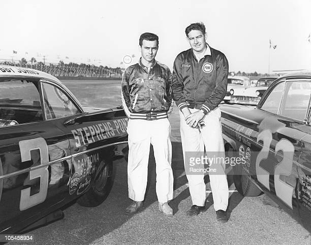 Bobby Johns and Fireball Roberts ran as teammates in Smokey Yunickprepared Pontiacs for the Daytona 500 NASCAR Cup race at Daytona International...