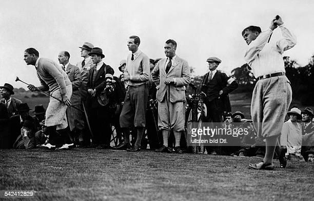 Bobby Jones Golfer Sportlerbei einem Treibschlag erschienen BZ Spb Aufnahme Fox Photos / Vertrieb Eduard Schlochauer