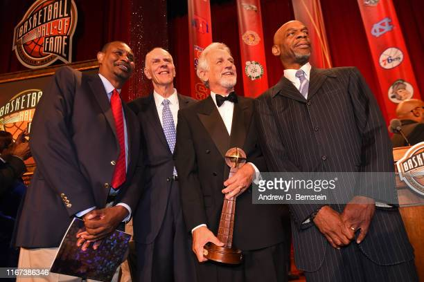 Bobby Jones Paul Westphal pose for a photo during the 2019 Basketball Hall of Fame Enshrinement Ceremony on September 6 2019 at Symphony Hall in...