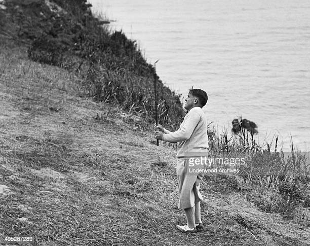 Bobby Jones playing golf Pebble Beach California circa 1929