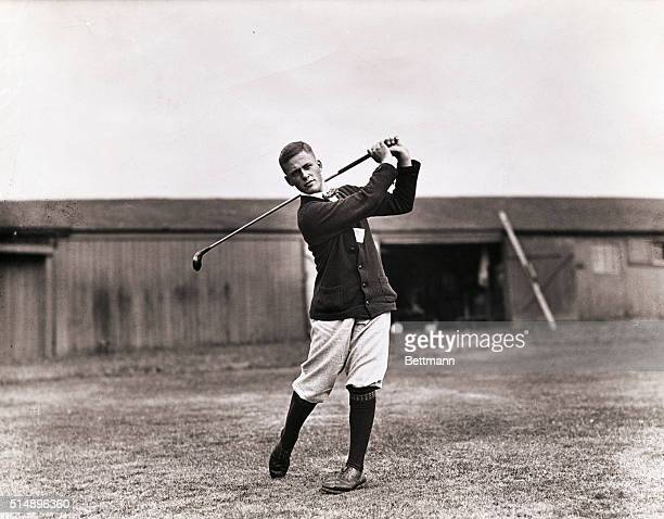 Bobby Jones takes a practice swing during a golf tournament for the benefit of the American Red Cross at the Montclaire Golf Club in West Orange New...