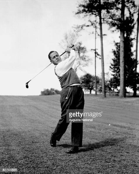 Bobby Jones Takes A Swing At The Augusta National Golf Club
