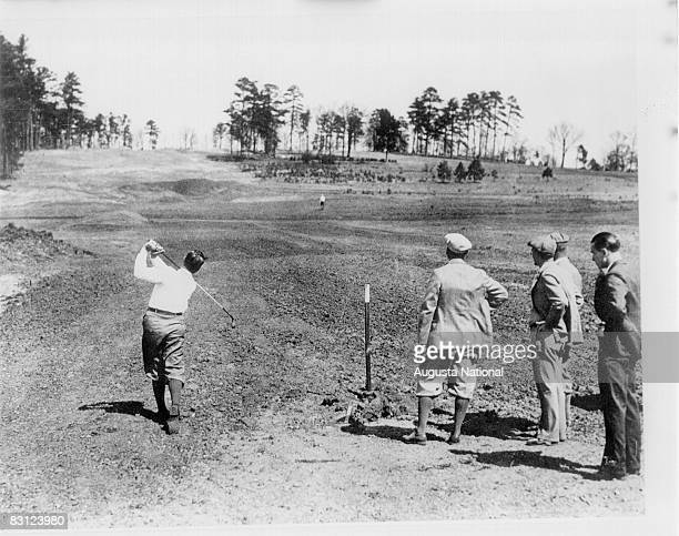 Bobby Jones Tees Off During The Construction Of The Augusta National Golf Course Circa 1931