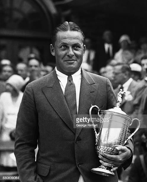 Bobby Jones Wins US Open Championship for the Third Time Winged Foot Golf Club Mamaroneck New YorkPhoto shows The champion Bobby Jones with the cup...