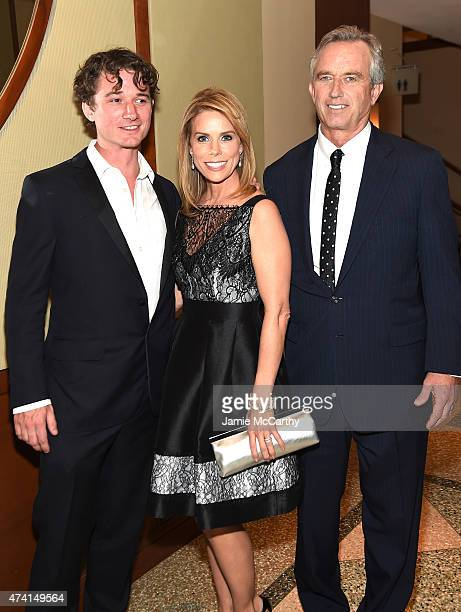 Bobby Kennedy III Cheryl Hines and Robert Kennedy Jr attend the 2015 Riverkeeper Fishermen's Ball at Pier Sixty at Chelsea Piers on May 20 2015 in...