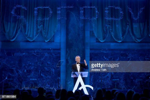 Bobby Kennedy speaks onstage during the 2018 ACE Awards announcing the Waterkeeper Alliance Partnership sponsored by Sperry at Cipriani 42nd Street...