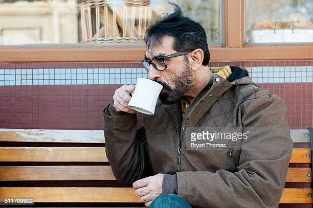 Bobby Khan sips a cup of coffee outside of Colson Patisserie on February 22 2016 in the Brooklyn borough of New York City A recently released study...