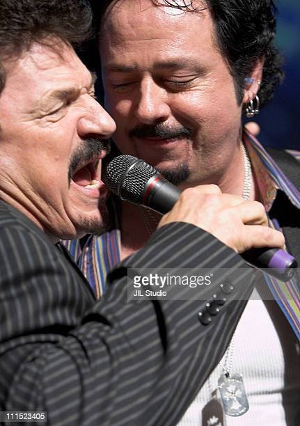 Bobby Kimball and Steve Lukather of TOTO during TOTO in Concert at the Tokyo International Forum May 8 2006 at Tokyo International Forum in Tokyo...