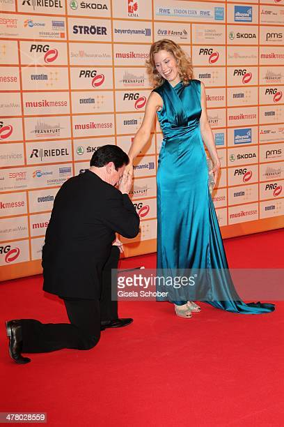 Bobby Kimball Franziska Reichenbacher attend the LEA Live Entertainment Award 2014 at Festhalle Frankfurt on March 11 2014 in Frankfurt am Main...