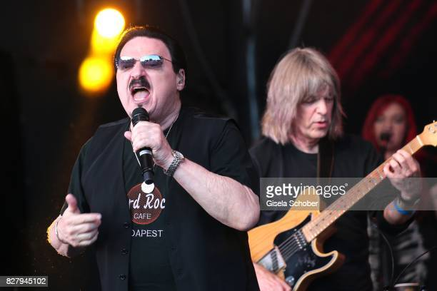 Bobby Kimball Mike Stern perform at the Man Doki Soulmates concert during the Sziget Festival at Budapest Park on August 8 2017 in Budapest Hungary...