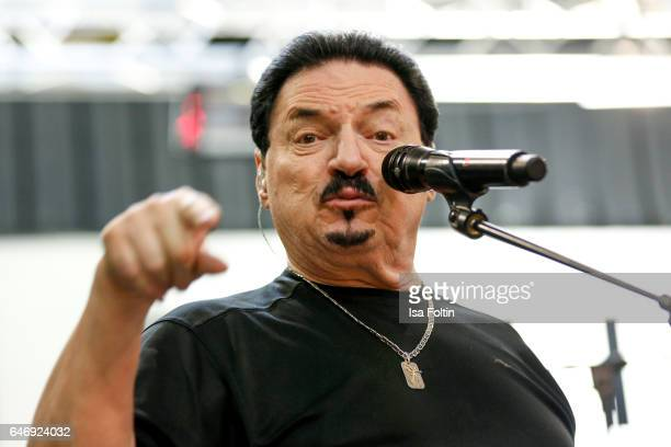 Bobby Kimball singer of the band Toto performs at the Man Doki Soulmates Wings Of Freedom Rehearsal on February 27 2017 in Paris France