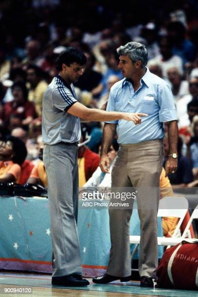 Bobby Knight Men's Basketball preliminaries competition at the 1984 Summer Olympics July 29 1984