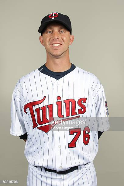 Bobby Korecky of the Minnesota Twins poses for a portrait during photo day at Hammond Stadium on February 25 2008 in Ft Myers Florida