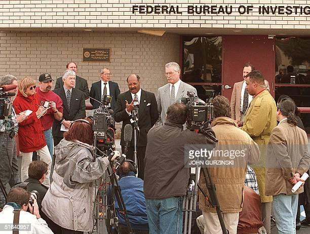 Bobby L Siller special agent in charge of the Las Vegas office of the FBI and Deputy Walt Stowe announce during a press conference in Las Vegas NV 21...