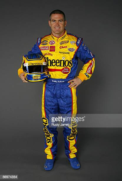 Bobby Labonte driver of Cheerios/Betty Crocker Dodge at NASCAR media day Daytona International Speedway on February 9 2006 in Daytona Florida