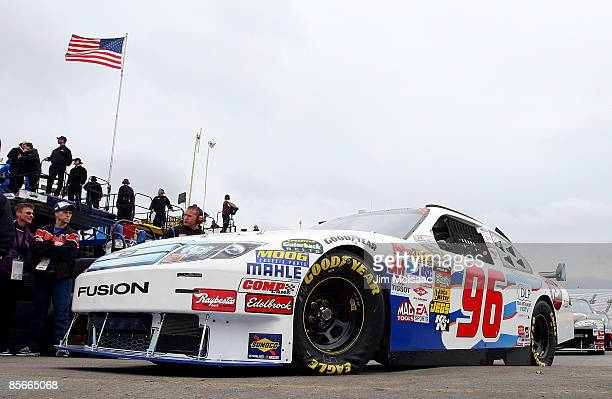 Bobby Labonte driver of the ASKcom Ford drives through the garage area during practice for the NASCAR Sprint Cup Series Goody�s Fast Pain Relief 500...