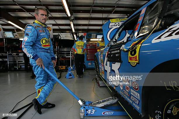 Bobby Labonte driver of the Cheerios/Betty Crocker Dodge during practice for the NASCAR Sprint Cup Series LifeLockcom 400 on July 10 2008 at...