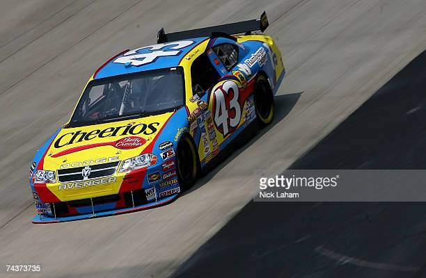 Bobby Labonte driver of the Cheerios/Betty Crocker Dodge practices for the NASCAR Nextel Cup Series Autism Speaks 400 on June 1 2007 at Dover...