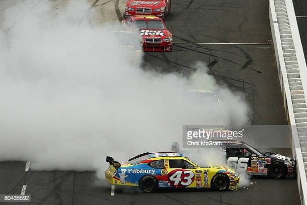 Bobby Labonte driver of the Cheerios/Betty Crocker Dodge Scott Riggs driver of the State Water Heaters Chevrolet and Jeff Gordon driver of the Dupont...