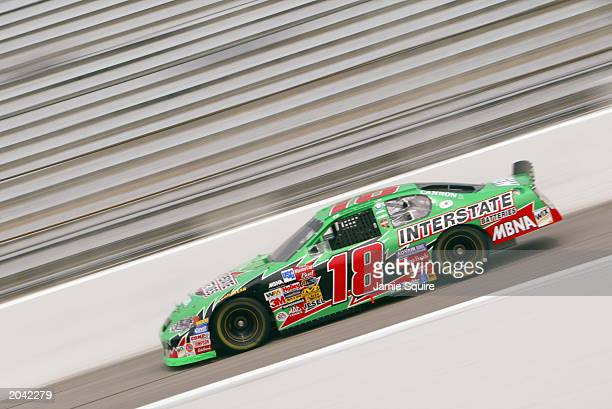 Bobby Labonte driver of the Joe Gibbs Racing Chevrolet Monte Carlo in action during practice for the NASCAR Carolina Dodge Dealers 400 on March 14...