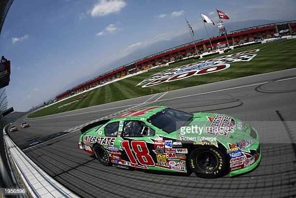 Bobby Labonte, driver of the Joe Gibbs Racing Interstate Batteries on track during the NASCAR Winston Cup AUTO CLUB 500 on April 27, 2003 at the...